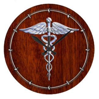 El cromo tiene gusto de la decoración médica de la reloj redondo grande