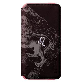 El cromo tiene gusto de la muestra del zodiaco de funda billetera para iPhone 6 watson