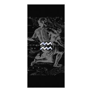 El cromo tiene gusto de la muestra del zodiaco del diseño de tarjeta publicitaria