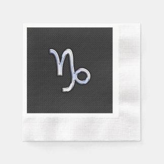 El cromo tiene gusto de símbolo del zodiaco del servilletas de papel