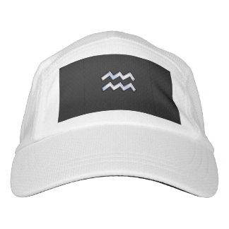 El cromo tiene gusto del zodiaco del acuario en gorra de alto rendimiento