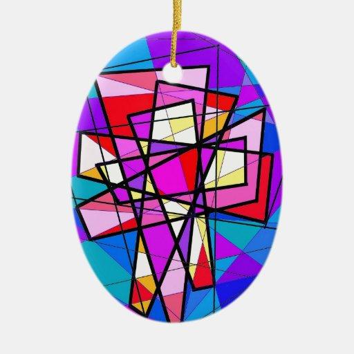 El crucifijo del vitral ornamentos de navidad