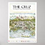 """""""El Cruz"""" la visión desde Santa Cruz, CA Poster"""