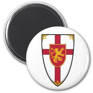 El cruzado Knights el imán del escudo