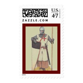 El cruzado medieval Knights a Templar Sello Postal