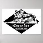 El cruzado Streamliner del ferrocarril de la lectu Posters