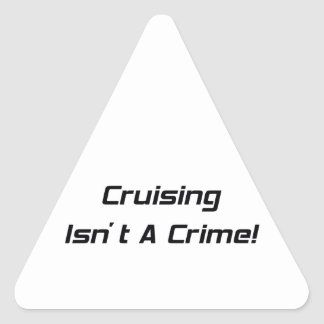 El cruzar no es regalos de un Woodward del crimen Pegatina Triangular