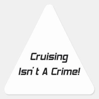 El cruzar no es un crimen pegatina triangular