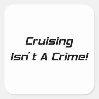 El cruzar no es un crimen pegatina cuadrada