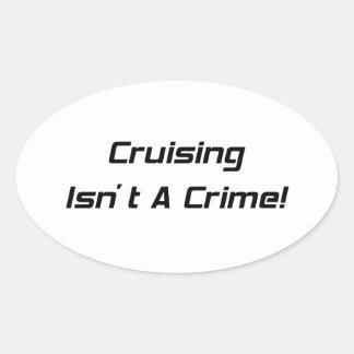 El cruzar no es un crimen pegatina ovalada