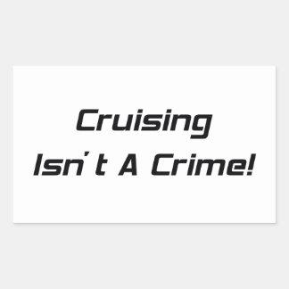 El cruzar no es un crimen pegatina rectangular