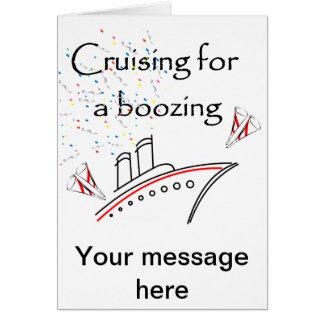 El cruzar para emborrachar tarjeta de felicitación