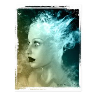 El cruzar sobre la postal gótica surrealista del a