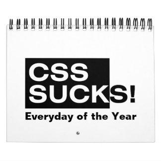 El CSS chupa Calendarios De Pared