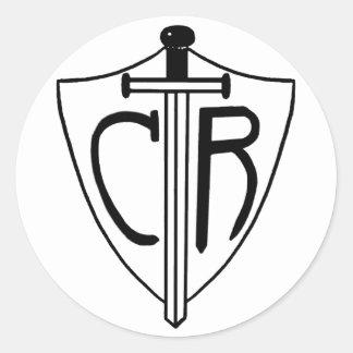 El CTR elige la espada y el escudo derechos Pegatinas Redondas