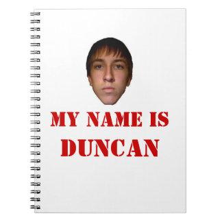 El cuaderno, 2010 mi nombre es Duncan