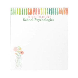 El cuaderno de notas del psicólogo de la escuela blocs