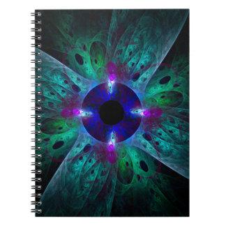 El cuaderno del arte abstracto del ojo