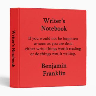 """El cuaderno del escritor - Benjamin Franklin Carpeta 1"""""""