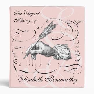 """El cuaderno del escritor elegante y femenino de la carpeta 1"""""""