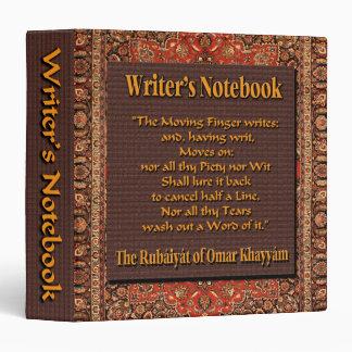 """El cuaderno del escritor - Omar Khayyam Carpeta 1 1/2"""""""