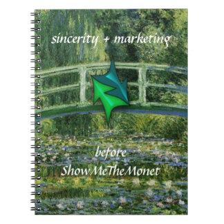 El cuaderno del márketing de la sinceridad me mues