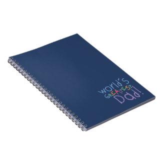 El cuaderno/el diario más grandes del día de padre