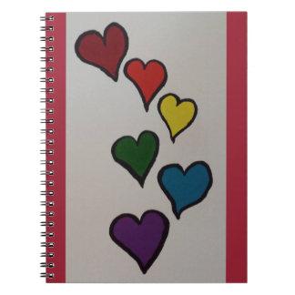 El cuaderno espiral de los corazones