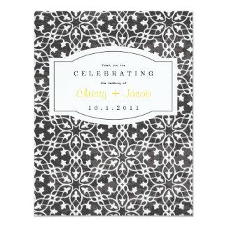 """El cuaderno le agradece observar invitación 4.25"""" x 5.5"""""""
