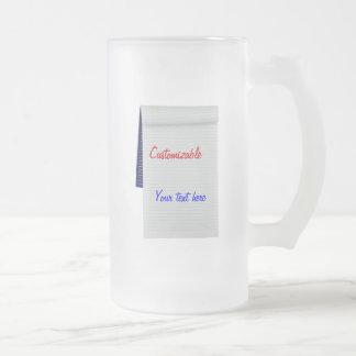 El cuaderno observa personalizable taza cristal mate
