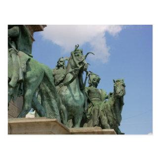 El cuadrado de los héroes, Budapest Tarjeta Postal