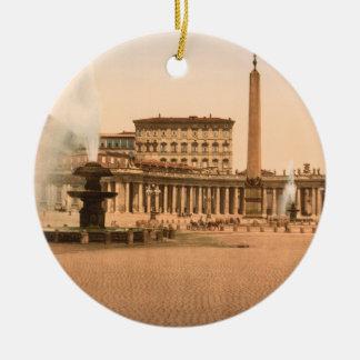 El cuadrado de San Pedro, Ciudad del Vaticano Ornamento Para Arbol De Navidad
