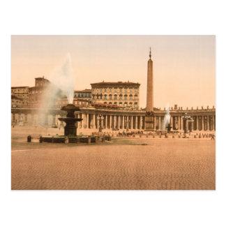 El cuadrado de San Pedro, Ciudad del Vaticano Postal