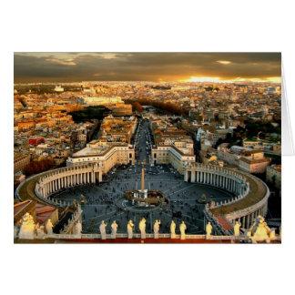 El cuadrado de San Pedro, Vatican Tarjeta Pequeña