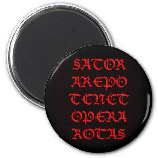 El cuadrado de Sator (blackletter de Lucida) Imán Redondo 5 Cm