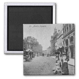El cuadrado de St Ann, Manchester, c.1910 Imanes