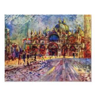 El cuadrado de St Mark en Venecia de Pedro-Auguste Invitación 10,8 X 13,9 Cm
