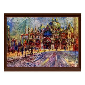 El cuadrado de St Mark en Venecia de Pedro-Auguste Postal