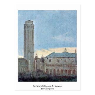 El cuadrado de St Mark en Venecia por Giorgione Tarjeta Postal