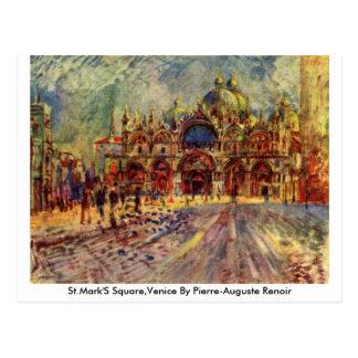El cuadrado de St Mark, Venecia de Pierre-Auguste  Postal