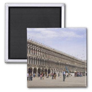 El cuadrado de St Mark, Venecia, Italia Imán Cuadrado