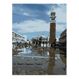 El cuadrado de St Mark, Venecia, Italia Postales