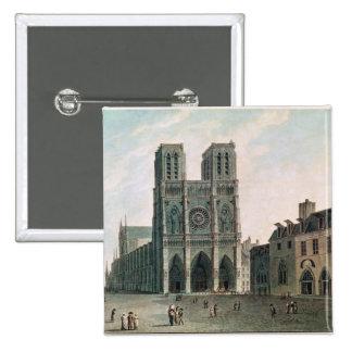 El cuadrado delante de Notre-Dame Pin Cuadrada 5 Cm