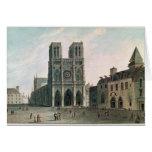 El cuadrado delante de Notre-Dame Tarjeta