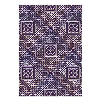 El cuadrado púrpura de plata forma el modelo de cojinete