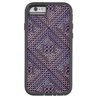 El cuadrado púrpura de plata forma el modelo de funda de iPhone 6 tough xtreme