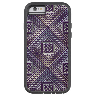 El cuadrado púrpura de plata forma el modelo de funda tough xtreme iPhone 6