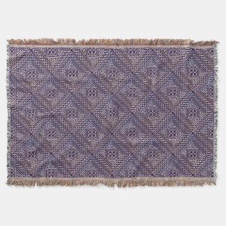 El cuadrado púrpura de plata forma el modelo de manta