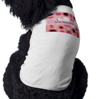 El cuadrado rosado borroso abstracto cubica arte camiseta de perrito
