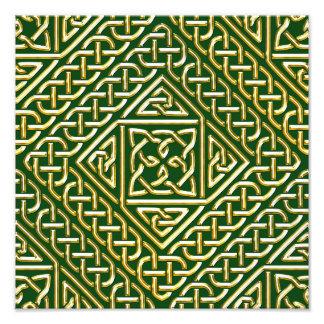El cuadrado verde del oro forma el modelo de fotografías